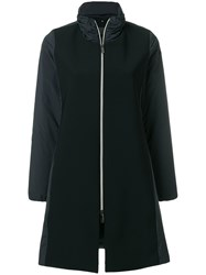 Rrd Panelled Zipped Coat Black