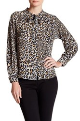 Insight Jaguar Tie Neck Blouse Black