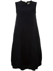 Hache Flared Sleeveless Dress Blue