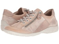 Rieker R3419 Liv 19 White Nude Light Rose Silver Shoes Pink