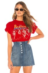 Junk Food The Beatles Tee Red