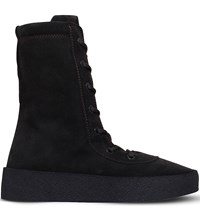Yeezy Military Suede Boots Dark Brown