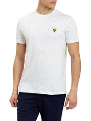 Lyle And Scott Minimal Dot T Shirt White