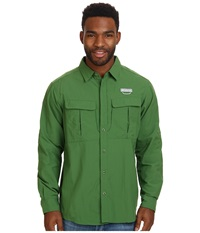 Columbia Cascades Explorer L S Shirt Dark Backcountry Men's Long Sleeve Button Up Green