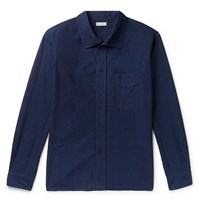 Margaret Howell Cotton Chambray Shirt Blue