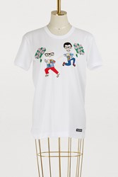 Dolce And Gabbana Embroidered T Shirt White