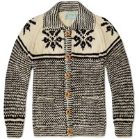Inverallan 30E Swedish Lumber Snowflake Cardigan Natural And Navy