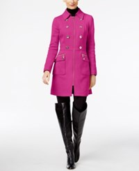 Inc International Concepts Double Breasted Peacoat Only At Macy's Magenta Flame