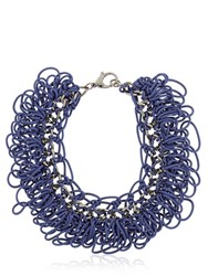 Alienina Altrove Brass And Nylon Necklace