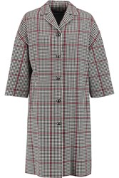 Dolce And Gabbana Checked Cotton Blend Coat Gray