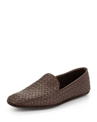 Bottega Veneta Woven Leather Slipper Brown