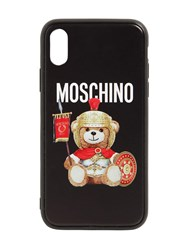 Moschino Printed Teddy Iphone Xs Max Cover Black