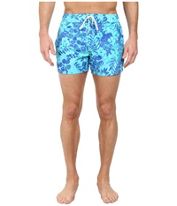 2Xist Tie Dye Floral Ibiza Caribbean Breeze Men's Swimwear Blue