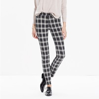 Madewell 9' High Riser Skinny Skinny Jeans In Bristow Plaid