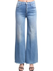 Mother Tomcat Rolled Wide Leg High Jeans Light Blue