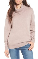 Women's Bp. Turtleneck Sweater Pink Sphinx Heather