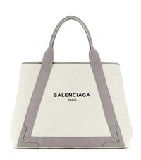 Balenciaga Navy M Shopper Neutrals