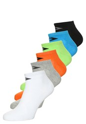 Converse Basic 6 Pack Socks Neon Blue Neon Green Neon Orange