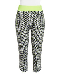Y.A.S Geometric Cube Cropped Performance Leggings Safety Yellow