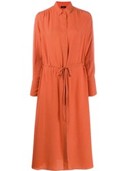 Joseph Printed Midi Shirt Dress Orange