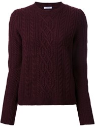 P.A.R.O.S.H. 'Lord' Cable Knit Jumper Red