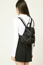 Forever 21 Structured Mini Backpack Black