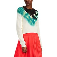 A.L.C. Elinor Tie Dyed Cotton Blend Sweater Green