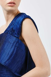 Boutique Textured Pleat Top By Blue
