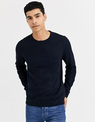 Celio Crew Neck Knit In Navy