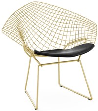 Knoll Bertoia Gold Diamond Chair