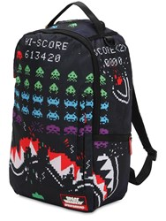 Sprayground Shark Space Invaders Print Backpack Multicolor