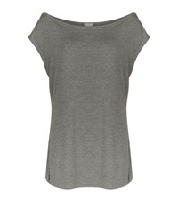 Homebody Open Cross Back T Shirt Female Grey