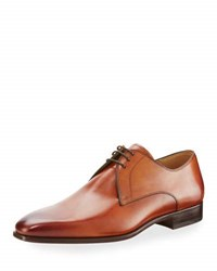Magnanni Hand Antiqued Leather Lace Up Oxford Light Brown