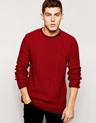 Anerkjendt Jumper With Neck Rib Detail Red