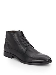 Bacco Bucci Leather Chukka Boots Black