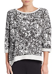 Marc New York By Andrew Marc Performance Graphic Print Cotton Blend Sweater Black Multi