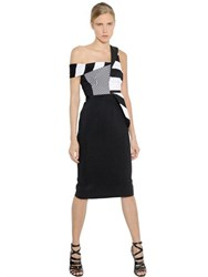 Antonio Berardi Striped Stretch Crepe Cady Dress