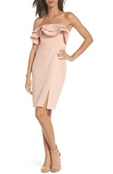 Adelyn Rae Issa Strapless Dress Pink Sand