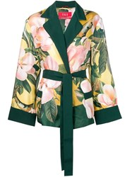 F.R.S For Restless Sleepers Floral Belted Jacket Yellow