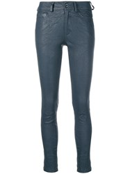 Zadig And Voltaire Skinny Leather Trousers Blue