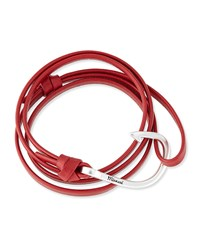 Hook Leather Bracelet Red Miansai