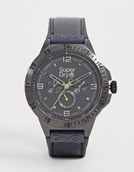 Superdry Chronograph Watch In Black Syg234bb