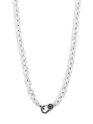 Judith Ripka Mercer Black Sapphire Black Onyx And Sterling Silver Wrap Necklace