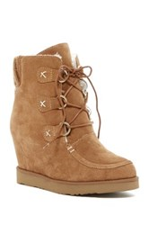 Australia Luxe Collective Dudley Hidden Wedge Genuine Shearling Boot Gray
