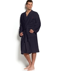 Polo Ralph Lauren Men's Sleepwear Kimono Velour Robe Navy