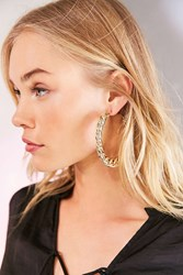 Urban Outfitters Statement Chain Hoop Earring Gold