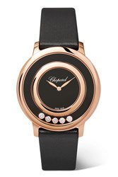 Chopard Happy Diamonds 32Mm 18 Karat Rose Gold
