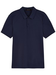 Jaeger Pima Polo Shirt Blue