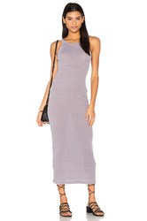 Stateside Rib Maxi Dress Gray