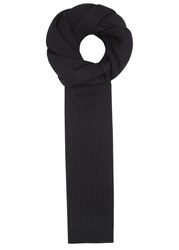 Dolce And Gabbana Black Ribbed Wool Scarf